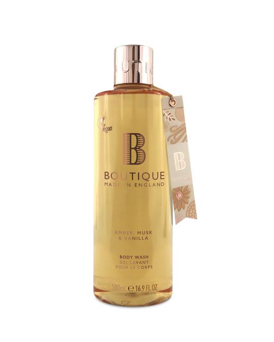 Boutique Boutique Amber, Musk & Vanilla Body Wash 500ml
