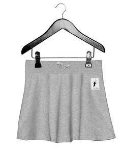 Skirt Grey Melange