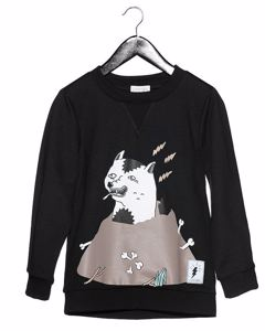 Sweater With Print Black