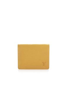 Louis Vuitton Epi Porte 2 Cartes Vertical Yellow