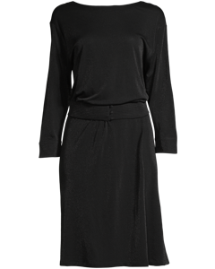 Belted Evening Dress Black
