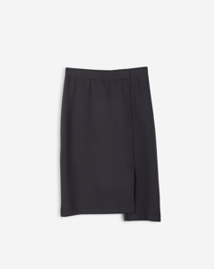 Scuba Slit Skirt Black