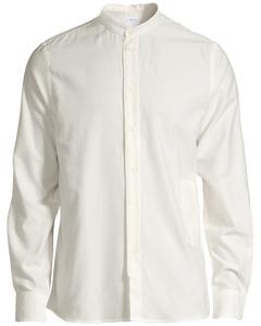 M. Pierre Flannel Stand Collar Off White
