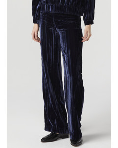 Meg Velvet Trousers Dark Blue