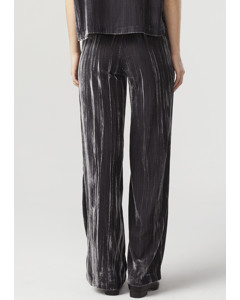 Meg Velvet Trousers Dark Grey