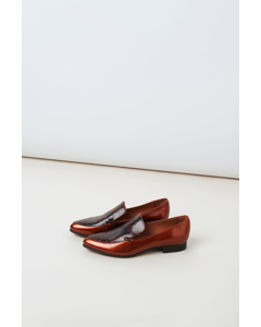 Aspen Loafers Dark Brown Snake
