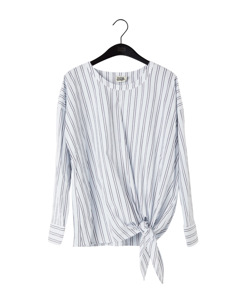 Veronica Blouse White/navy Stripe