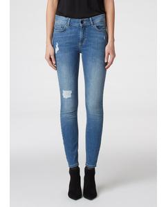 Julie Trousers Mid Blue Denim