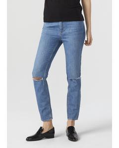 Sarah Jeans Mid Blue Cut