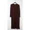 Long Drape Placket Dress Oxblood