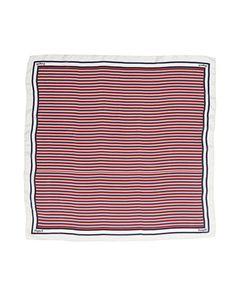 Lexington Scarf Gardiners Bay Big Silk Scarf Blue/red/white Stripe