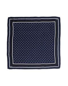 Lexington Scarf Gardiners Bay Big Silk Scarf Blue Star Print