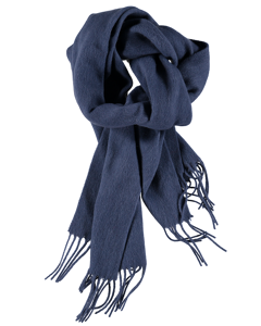 Scarf Solid Wool Denim Blue