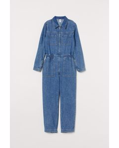 Boilersuit aus Denim Blau