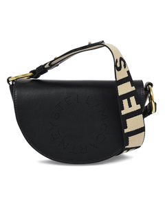 Flap Small Bag In Black Eco Leather