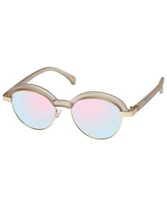 Slid Lids Matte Stone / Gold W/ Diamond Revo Mirror Lens
