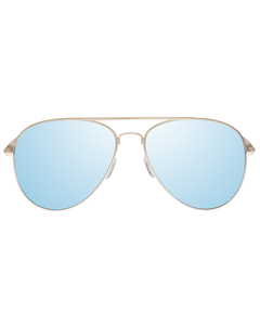 Drop Top Brushed Gold With Ice Blue Mirror Lens