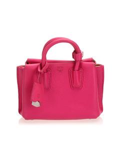 Mcm Mini Milla Leather Satchel Pink