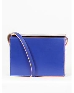 Leather Shoulder Bag Blue