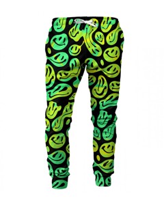 Mr. Gugu & Miss Go Melted Smileys Unisex Sweatpants Psycho Green