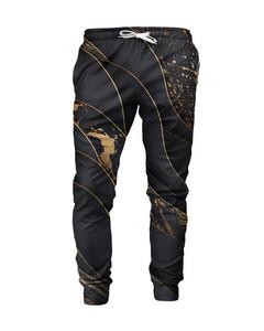 Mr. Gugu & Miss Go Black And Gold Unisex Sweatpants Unique Gold