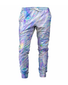 Mr. Gugu & Miss Go Magic Foil Unisex Sweatpants Rainbow White