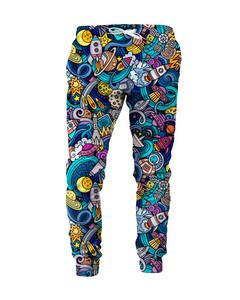 Mr. Gugu & Miss Go Space Doodle Unisex Sweatpants Galaxy Blue