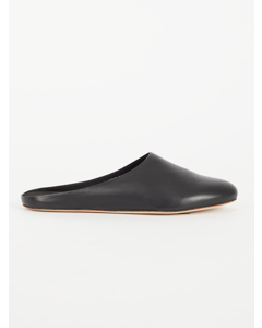 Leather Slippers Black
