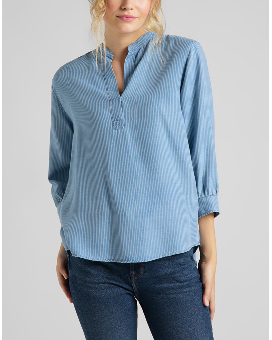 Lee Essential Blouse Faded Blue