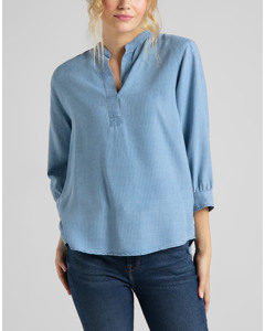 Essential Blouse Faded Blue