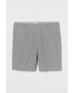 Shorts aus Baumwoll-Oxford Dunkelblaumeliert