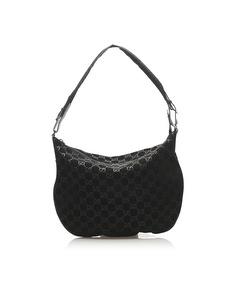 Gucci Gg Canvas Shoulder Bag Black