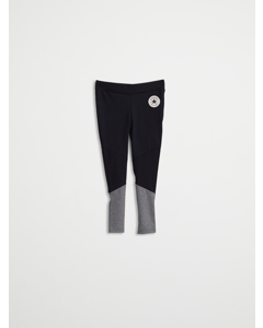 Fabric Blocked Legging Black