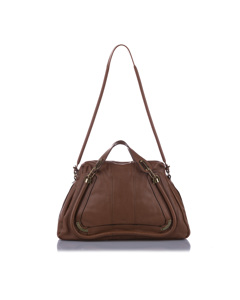 Chloe Paraty Leather Satchel Brown