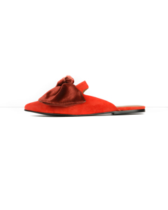 Linda Red Suede Slip-in