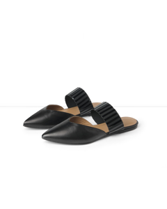 Monica Black Nappa Slip-in