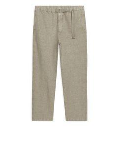 Linen Cotton Trousers Beige