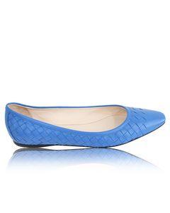 Blue Intrecciato Shoes