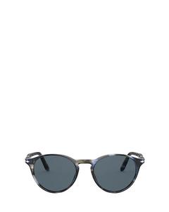 Po3092sm Striped Blue & Grey Solglasögon