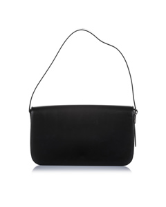 Cartier Panthere Leather Shoulder Bag Black