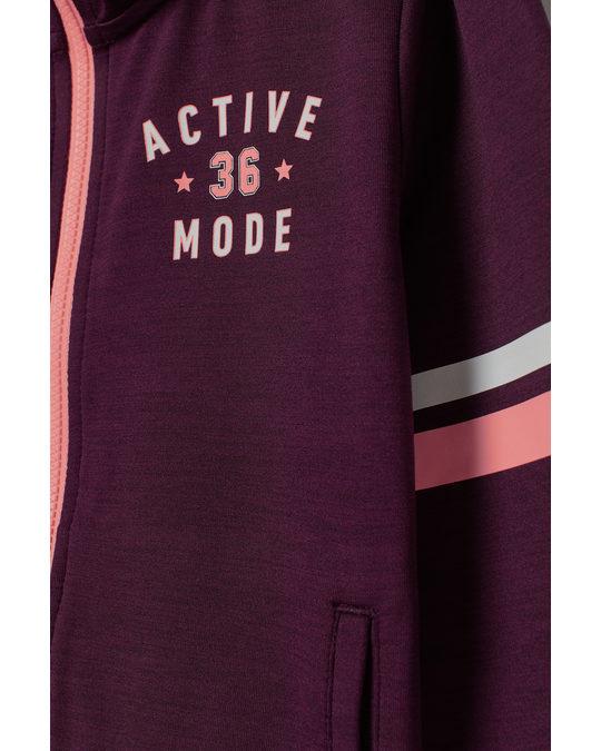 H&M Hooded sports jacket Dark red marl
