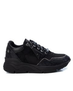 Textile Combined Ladies Shoes Black