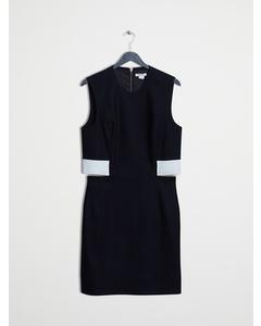 Helmut Lang Flex Leather Detailed Black Dress Black