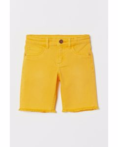 Longshorts aus Twill Gelb