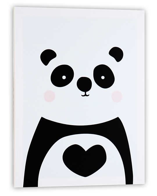 Potimarron Ornemantal Frame Panda 30x40x1.5 White