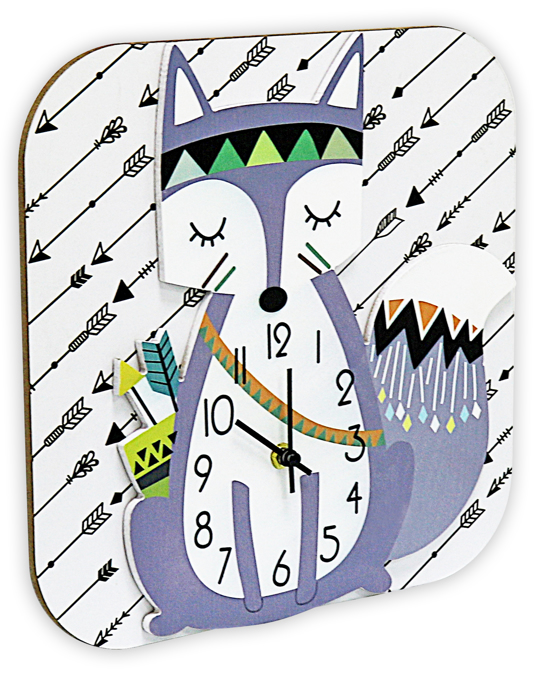 Potimarron Clock Maître Renard 30x30x4.5 White