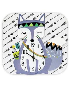 Clock Maître Renard 30x30x4.5 White