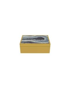Box Agate Goldy 16x10x6 Gold