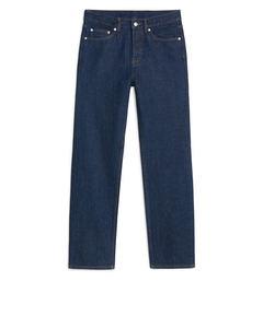 Straight Rinsed Indigo Jeans Denim
