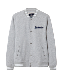 Jamie Baseball Sweater-lt Warm Gray Melange